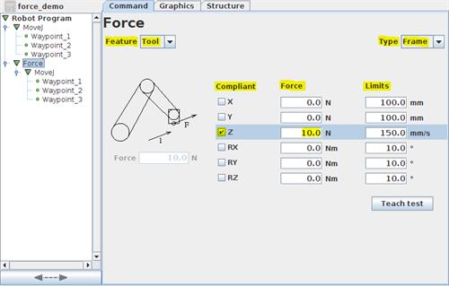 URScript: Dynamic Force Control - 20571 | Universal Robots