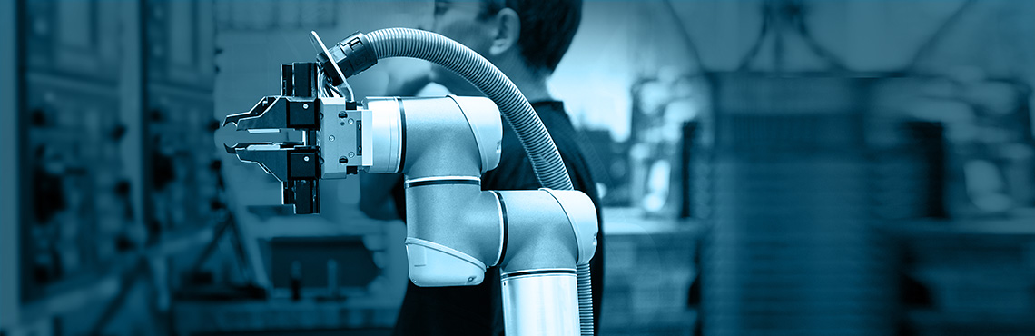 Industrial robot arms can be used on plastic and polymer production