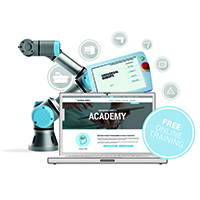 Universal Robots expands online training Academy, offering free interactive modules in robotics programming