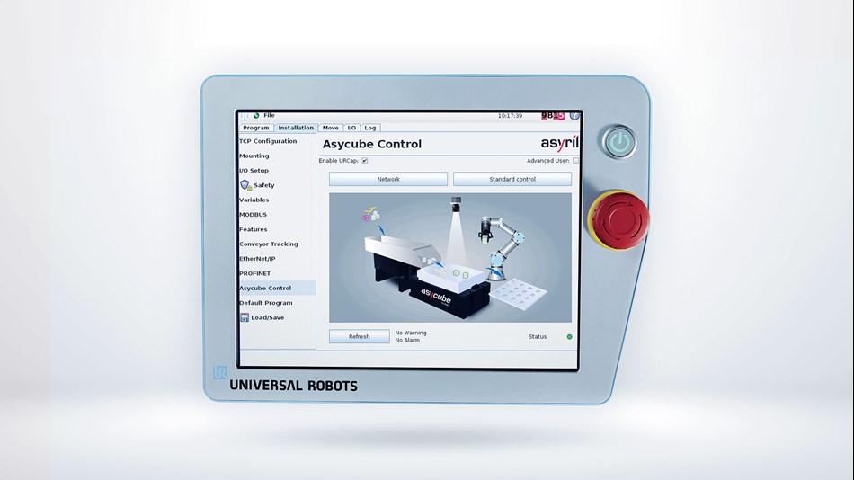 UR+ Solutions |Asycube flexible part feeder - Universal robots