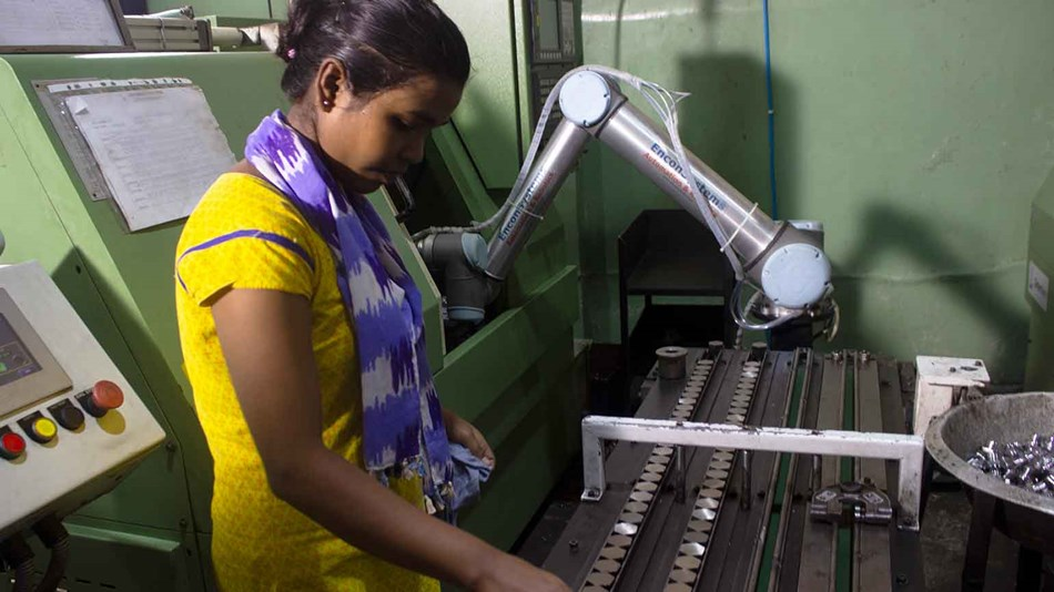 leading to cost reduction and increase in productivity with cobots
