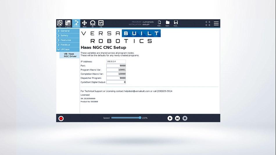 UR+ Solutions | VersaBuilt Robotics - Haas NGC Integration Kit