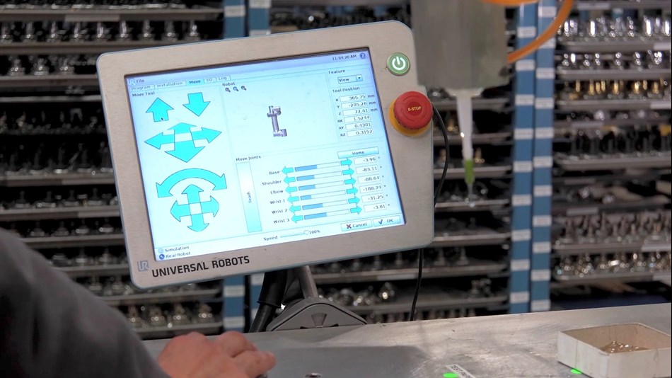 Universal Robots pioneered the 3D interface on the touch screen pendant that the UR robots are programmed through.