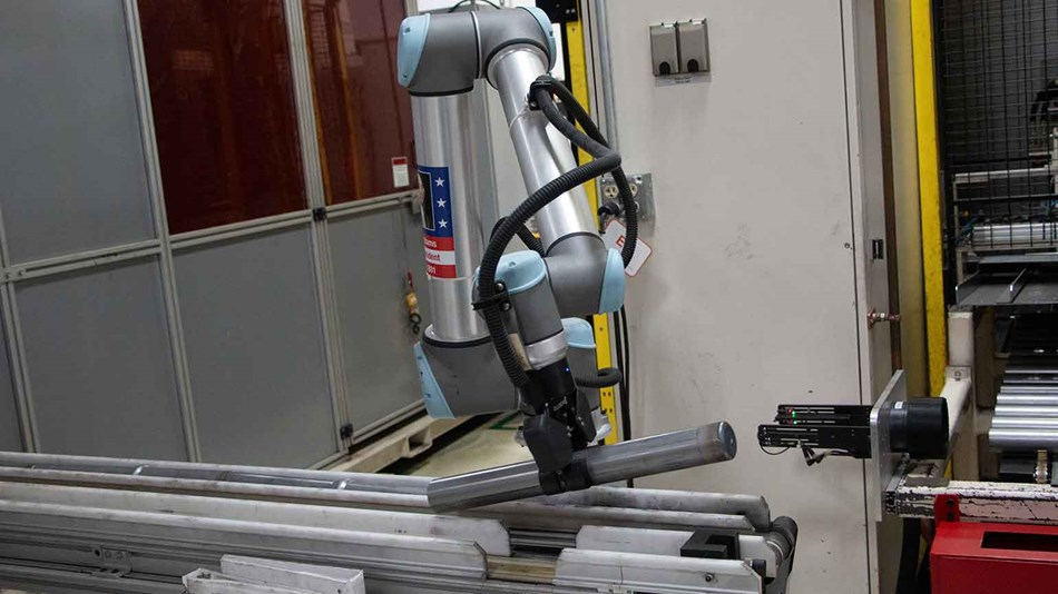 Collaborative robot at thyssenkrupp Bilstein
