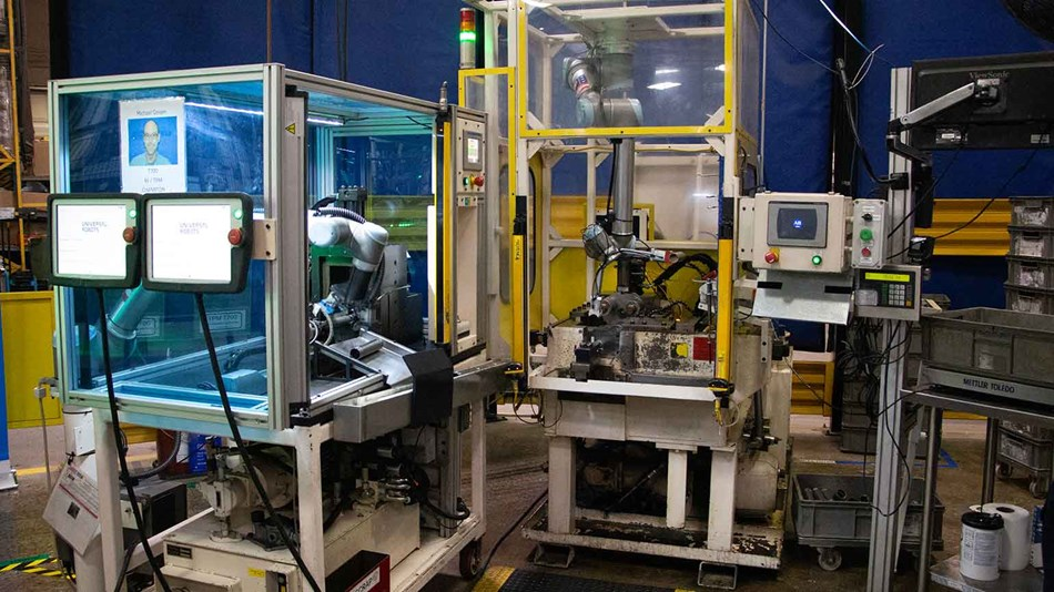 Cobots in factory floor