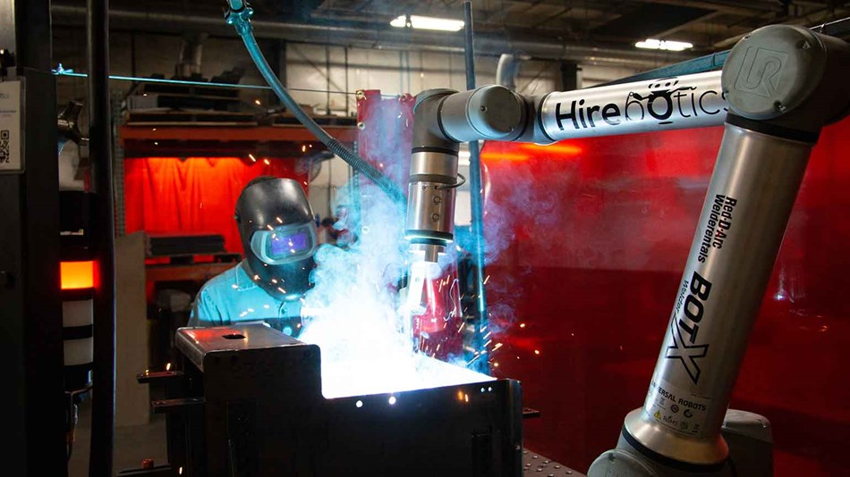 Welding solution using collaborative robot