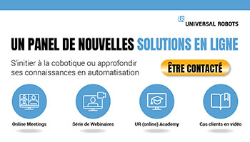Démocratisation de la robotique collaborative : Universal Robots multiplie les initiatives en ligne