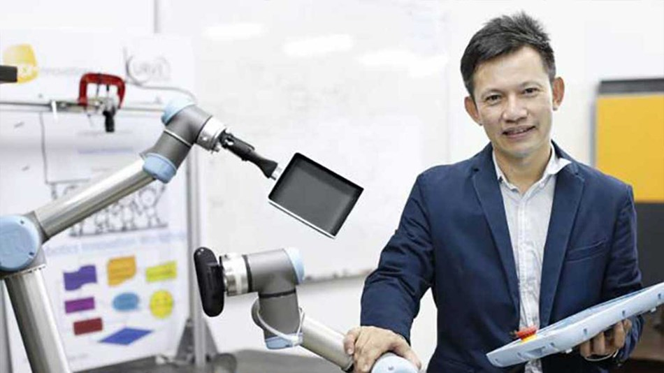 Mr. Hui, integrator of UR robots in Singapore