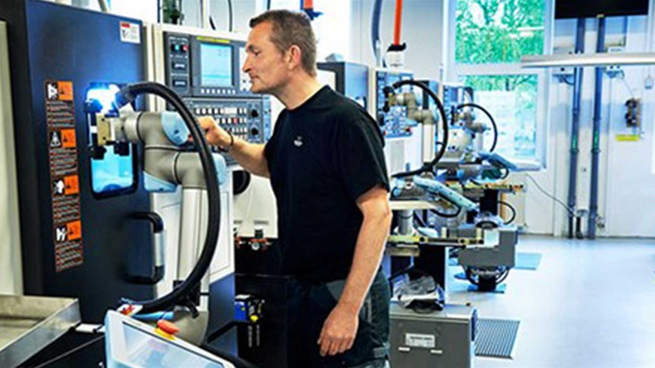 Collaborative robots create jobs at Trelleborg in Denmark.
