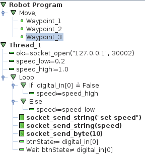 Setting the speed slider from a program 15293 UR Support