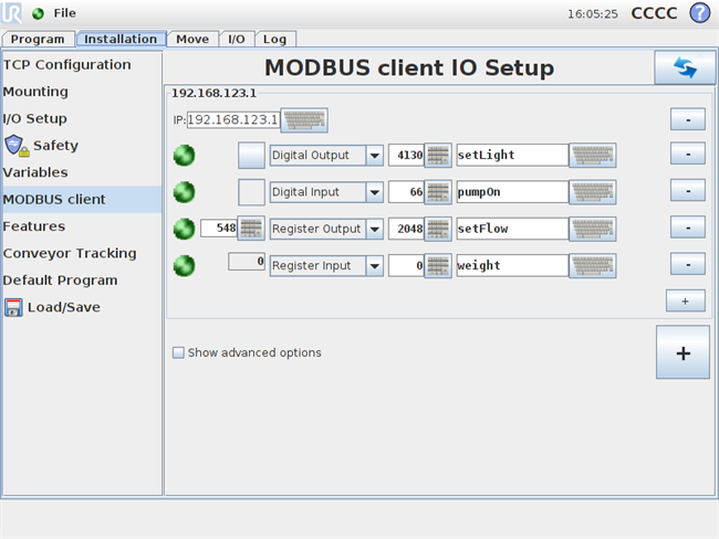 Modbus communication 16357 | Universal Robots support